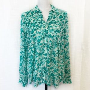 Anthropologie Maeve Islet Floral Print Top